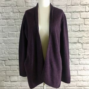 Eileen Fisher 100% Wool Open Front Cardigan Size S